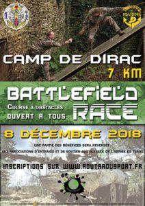LA BATTLEFIELD RACE    2 ème édition en 2019 de cette course à obstacles au camp militaire de Dirac.